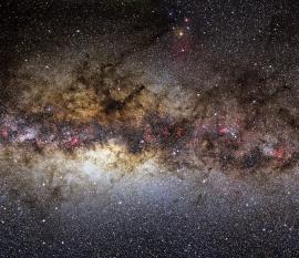 Via Lattea nella zona del centro galattico.