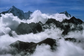 Valle del Kumbu da monte Chhukung Ri, Nepal