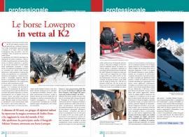 Redazionale per Lowepro su Fotonotiziario dic. 2004